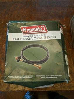 NEW Coleman5 Ft. High-Pressure Propane Hose and Adapter Ne