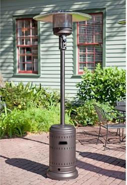 NEW FIRE SENSE COMMERCIAL PATIO HEATER 46,000 BTU MOCHA FINI