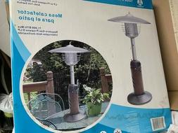 new in box tabletop patio propane heater