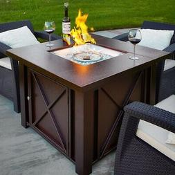 NEW LPG Fire Pit Table Outdoor Gas Fireplace Propane Heater