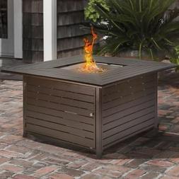 Outdoor Backyard Patio LP Propane Gas Fire Pit Heater Square