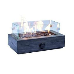 Outdoor Fire Pit Propane Gas Heater Table Top Fireplace Pati