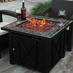 Outdoor Lpg Gas Fire Table Bowl Cover Pit Fireplace Propane