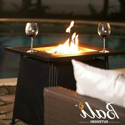"BALI OUTDOORS 28"" Gas Fireplace Square Table 50,000BTU Fire"