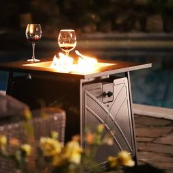 "28"" Outdoor Propane Fire Pit Patio Heater Gas Table Square F"