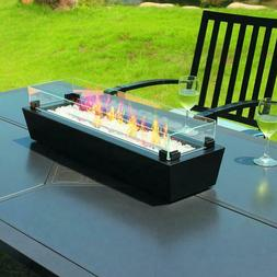 outdoor tabletop gas fire pit patio table