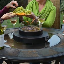 Patio Fire Pit Table Top Portable Propane Gas Fireplace Bowl