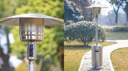 Hampton Bay Patio Heater 48000 BTU Propane Stainless Steel O