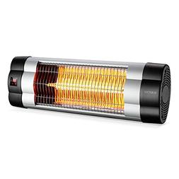 SURJUNY Patio Heater, Electric Wall-Mounted Outdoor Heater w