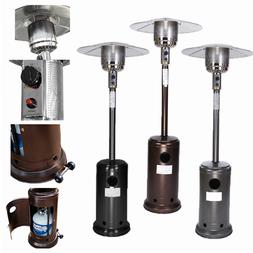 Patio Heater Garden Outdoor Propane Heater Tall Stand Silver