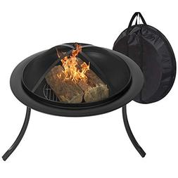 "Best Choice Products 30"" Portable Folding Fire Pit W/ Carryi"