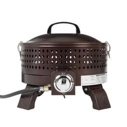 Portable Propane Fire Pit 15 inch Steel Bowl with Lid 60000