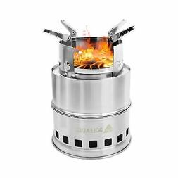 SM SunniMix Stainless Steel Camping Wood Stove Portable Camp Stoves