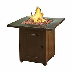 Propane Fire Pit Patio Heater Antique Hammered Bronze Finish