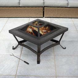 Propane Fire Pit Set Outdoor Patio Fireplace Backyard Heater