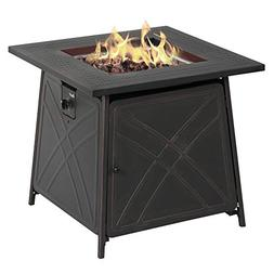 "BALI OUTDOORS Firepit LP Gas Fireplace 28"" Square Table 50,0"