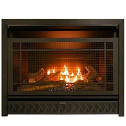 29 in. Propane Natural Gas Fireplace Insert Dual Fuel Vent-F