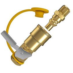 GASPRO 1/4 Inch RV Propane Quick Connect Fittings, Natural/L