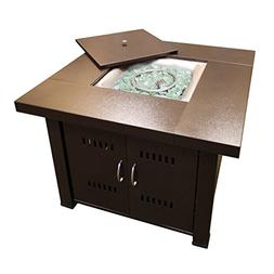 Hiland Propane GS-F-PC Brown Hammered-bronze Fire Pit