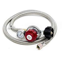 GasOne 2123 Propane Hose and Regulator High Pressure 0-30PSI