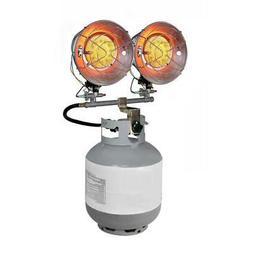 Propane Portable Heater 30000BTU Radiant Tank Top Double Bur