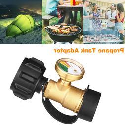 Propane Tank Brass Adapter W/ Pressure Meter Gauge 4 Master
