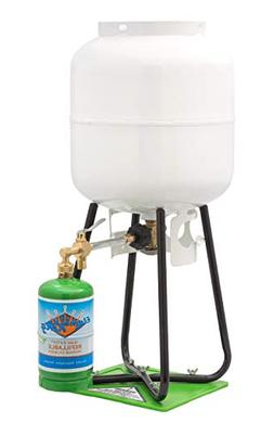 Flame King Refillable 1 LB Empty Propane Cylinder Tank - wit