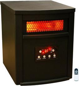 LifeSmart 6 Element w/Remote Large Room Infrared Heater, Bla