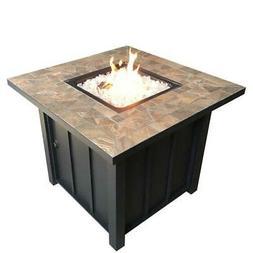 AZ Patio Heaters - Square Tile Propane Fire Pit, 40K BTU - A