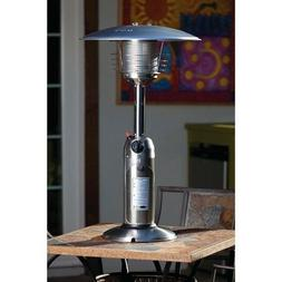 Fire Sense Stainless Steel Table Top Patio Heater New 10,000