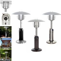 Table Top Patio Heater Garden Outdoor Propane Heater Silver