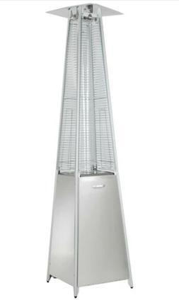 Tall Quartz Glass Tube Heater In Stainless Steel