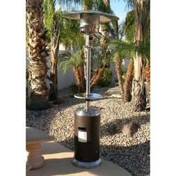 Hiland Tall Stainless Steel and Hammered Bronze Patio Heater