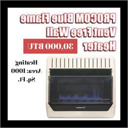 Vent Free Blue Flame Heater 30,000 BTU Uses With Natural Gas