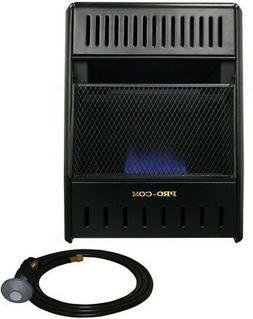 ProCom Vent-Free Propane Heater 10000 BTU Blue Flame 2 Heat