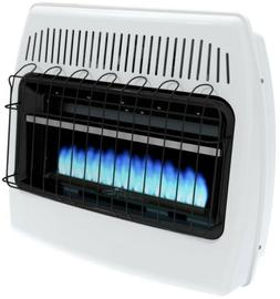 wall heater propane 30 000 btu blue