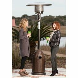 Fire Sense Wicker Base Propane Patio Heater, Mocha